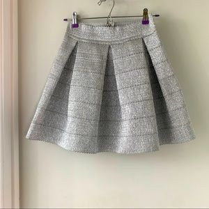 Silver Parker mini skirt size Small